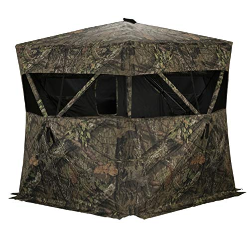 - Rhino Blinds R200-MOC 3 Person Hunting Ground Blind, Mossy Oak Breakup Country