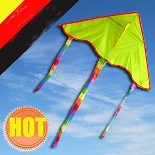Yellow Kite Painting 5pcs/lot With Line Ripstop Nylon And Reasonable Price ,with Control Bar Weifang Factory - Cheap Lesson Sunglasses