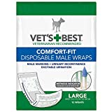 Vet's Best Comfort Fit Large Disposable Male Wrap, 12 count