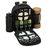 Picnic at Ascot Eco Picnic Backpack for 4 with Blanket