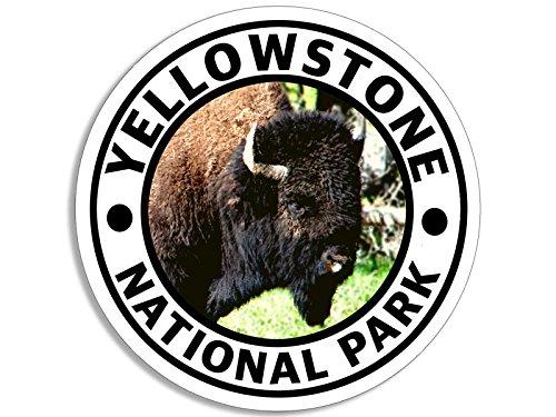 [해외]American Vinyl Round White Yellowstone National Park Sticker (Hike Travel rv Bison Buffalo) / American Vinyl Round White Yellowstone National Park Sticker (Hike Travel rv Bison Buffalo)