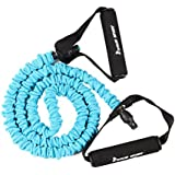 KYLIN SPORT Latex Covered Resistance Bands Fitness Exercise Workout Tubes for Yoga Pilates Crossfit Gym