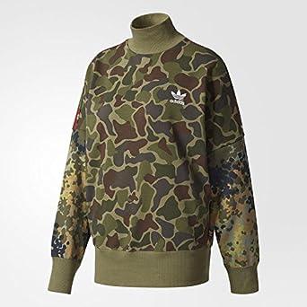 c05b8a4a63b03 Amazon.com: adidas Women's Pharrell Williams hu Hiking Camo Sweater ...