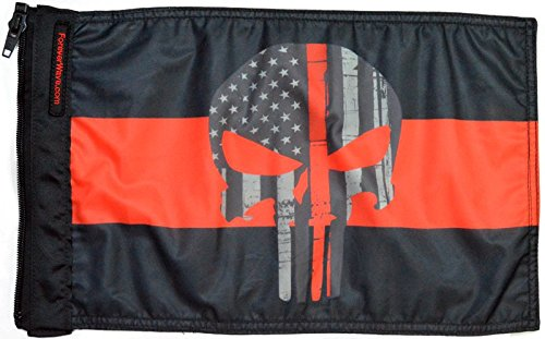 Forever Wave Thin Red Line Punisher Flag