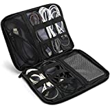 Procase Electronics Travel Gadget Organizer Tech Bag, Handy Gear Accessories Storage Carrying Bag Pouch for USB Cable SD Card Camera Hard Drive Flash Disk Power Bank -Black