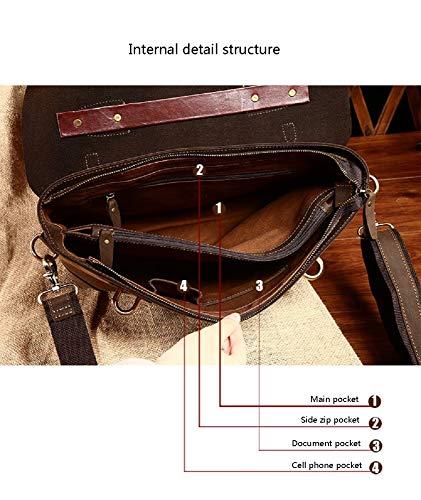 Pour De Fashion Hommes En Bandoulière documents 1 Sac À tout Fourre Vintage Xwh Crazy Horse Porte Cuir Hommes Business Cuir Ew1q0gq