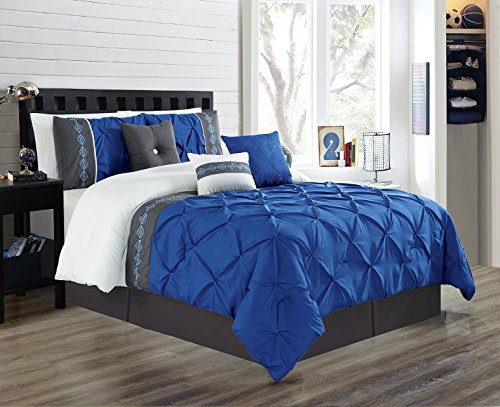 blue and white comforter - 8