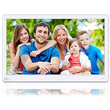 Image of Digital Picture Frames Aazomba 15 Inch Digital Picture Frame with High Resolution 1920x1080 16:9 IPS Screen, Motion Sensor, 1080P Video Player, Music, Slideshow, Breakpoint Play, Auto Power On/Off, Remote Control