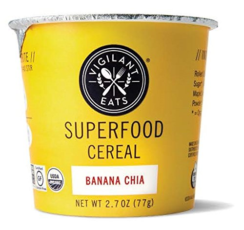 Vigilant Eats Organic Banana Chia Superfood Cereal, 2.7 Ounce -- 12 per case.
