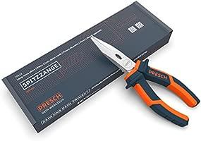 Presch alicates de punta de aguja rectos 160 mm - pequeños alicates profesionales con corte integrado - varias capas