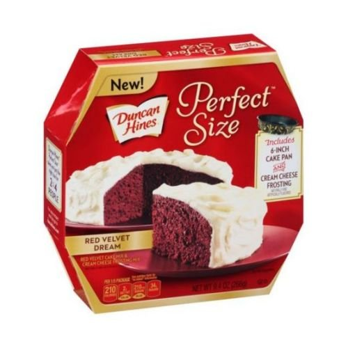 Duncan Hines Perfect Size Red Velvet Dream Cake Mix and Cream Cheese Frosting Mix, 9.4 Ounce -- 8 per case. (Duncan Hines Red Velvet Cake Mix Brownies)