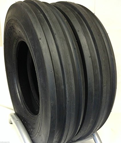 Two 7.50-16 Rib Tractor Tires 12 Ply Rated Heavy Duty Tubeless ()