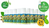 Premiere's Pain Spray Roll-On 24 Pack (Includes 6 Free Travel Spray Bottles), Herbal Medicine for Pain, Pain Relief Roll-On for Minor Athlete Injuries, Sore Feet and Legs Remedy