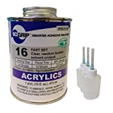 Weld-On 16 Acrylic Cement - Pint and 3 Pack of Weld-On Applicator Bottle with Needle
