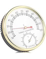 Metal Dial Indoor Thermometer Hygrometer Hygro-Thermometer Sauna Room Accessory
