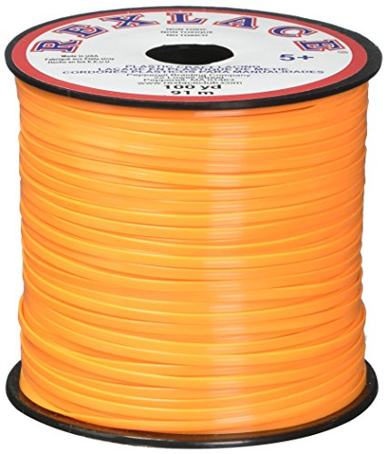 Pepperell Braiding Company RX10035 100 yd Rex Lace Neon Tanterine