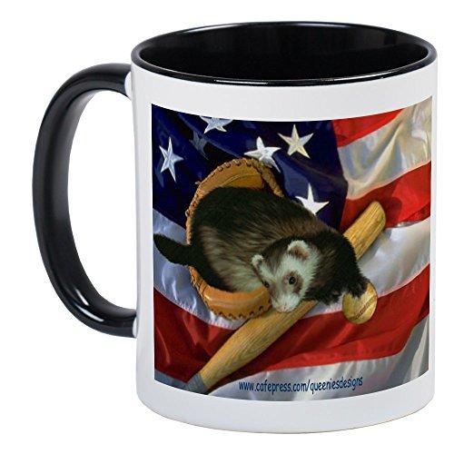 CafePress Ferret Baseball Mug Unique Coffee Mug, Coffee Cup