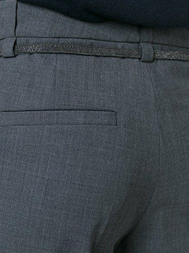 Brunello Cucinelli Pantaloni Donna M0W07P6119C796 Lana Grigio