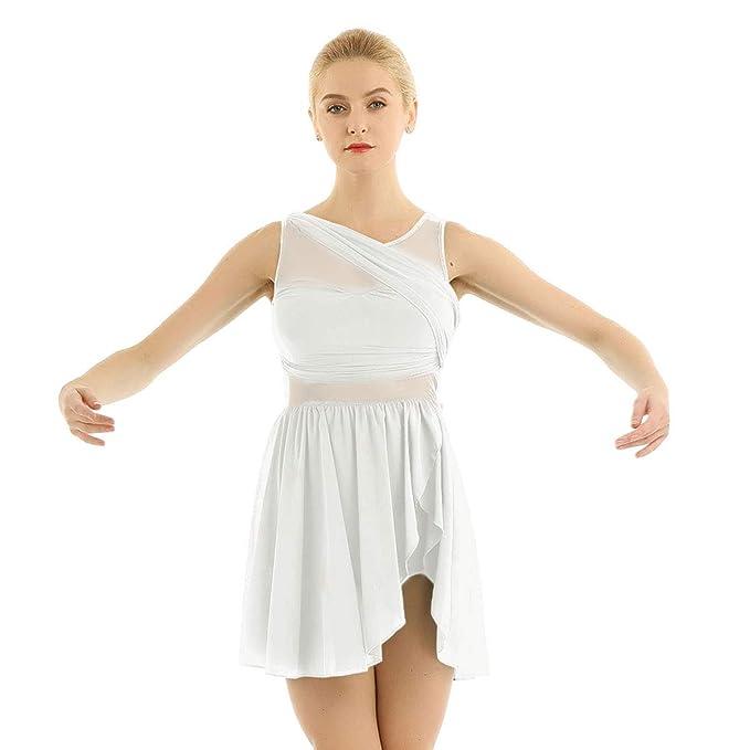 inlzdz Vestido de Ballet Danza Latina Mujer Mailot de Danza ...
