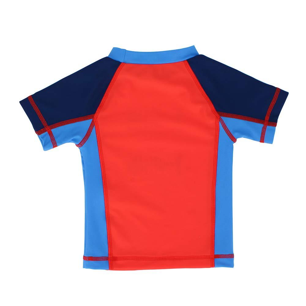 pour Enfants S/échage Rapide LACOFIA Maillots de Bain /à Manches Courtes pour B/éb/é T-Shirt de Bain Protection Solaire UPF50