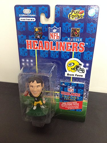 1996 Brett Favre Green Bay Packers NFL Football Figure by Headliners with collectors catalogue (Figurine Brett Favre)