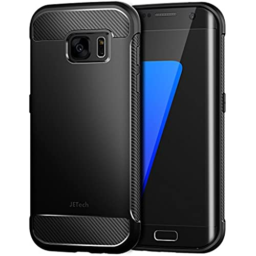 S7 Edge Case, JETech Super Protective Galaxy S7 Edge Case with Shock-Absorption and Carbon Fiber Design for Samsung Galaxy S7 Edge (Black) - 3443 Sales