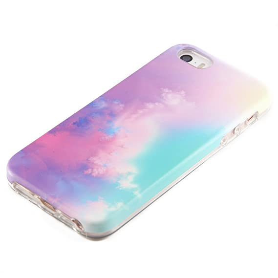 sale retailer bcc89 c46cb Pastel Gradient Compatible for iPhone SE 5S 5 Protective case uCOLOR  Abstract Cloud for iPhone SE 5S 5 Dual Layer Protection Tough Case