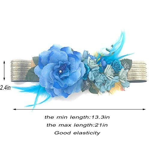 pluma de vestido para elástica Ever satén mujer la cinturón Fairy cinturón flor dama accesorios cinturón moda honor de cinturones boda de F fajas niña tela FFvPwWHq1