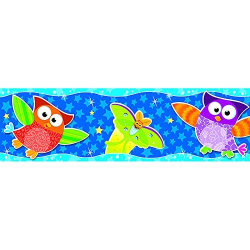 Bolder Border Star - Trend Enterprises Owl-Stars! Bolder Borders (T-85125) by Trend Enterprises