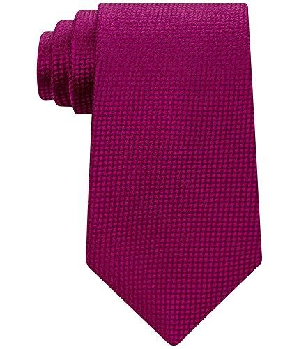 Sean John Men's Textured Solid Tie, Berry, One Size