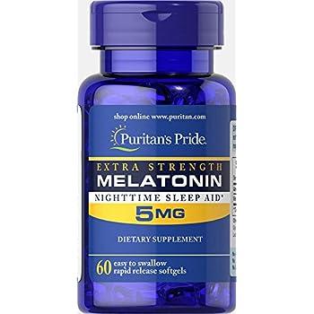 Puritans Pride Extra Strength Melatonin 5 mg-60 Softgels
