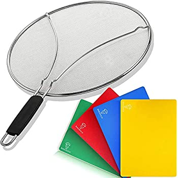 Amazon com: Grease Splatter Screen for Frying Pan 13