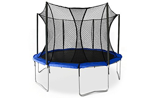 JumpSport SkyBounce 12' XPS Trampoline System — Includes Integrated Safety Enclosure — Safest, Overlapping Doorway Entry