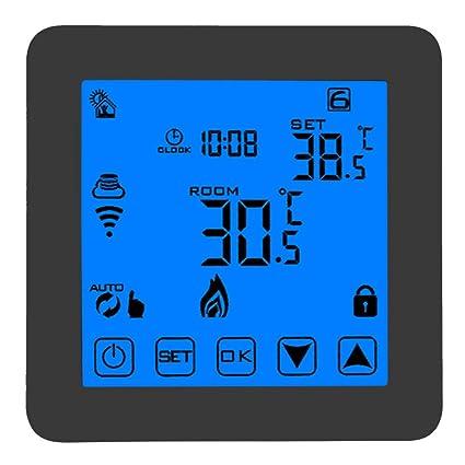 Garosa Termostato Inteligente WiFi Control De Temperatura Eléctrico De Calefacción Suspendido Termostato De Calefacción Programable LCD
