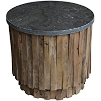 Moti Furniture Norwalk Soapstone Top Accent Table