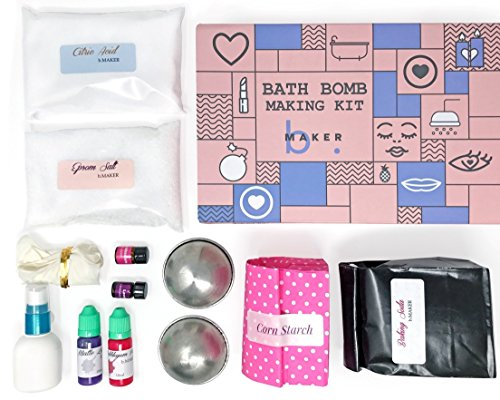 DIY Bath Bomb Making Kit- Everything You Need for Creating Your Own Lavender Rose Bath Bombs. Easy to Follow Instruction. Fun for Kids & Teens. Best Gift Ideas! (Ideas Craft Xmas)