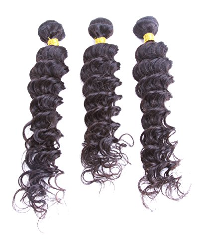 """Cool2day® Mixed length Deep Wave Brazilian Virgin Remy Human Hair Weave Weft 150 Grams Unprocessed Hair 100% Brazilian Human Hair Extensions (20""""/22""""/24"""")"""