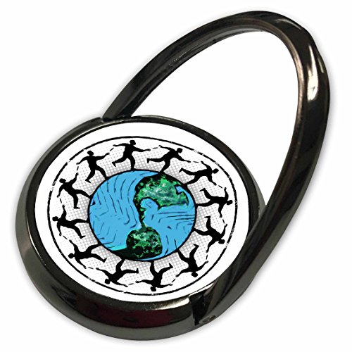 3dRose Phil Perkins - Disc Golf - Disc Golfing Planet Earth - disc golfers throwing around planet earth - Phone Ring (phr_173739_1) (Around Golfing Gift)