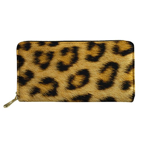 Bigcardesigns Faux Leather Wallet Leopard Print Purse with Phone -