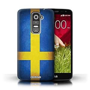 Kobalt® protector duro de nuevo caso / cubierta para el LG G2 Mini/D620   Suecia/sueco Diseño   Banderas colección