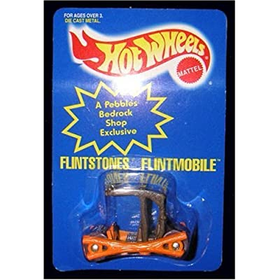 Hot Wheels Die Cast Metal Flintstones Flintmobile 1:64 Scale: Toys & Games
