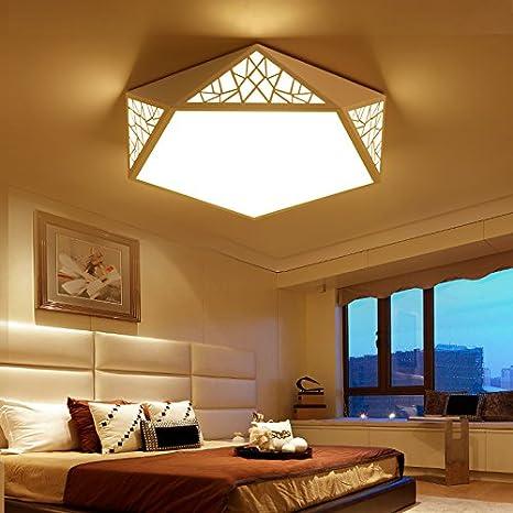 Lámparas dormitorio sencillas y modernas geométricas ideas ...