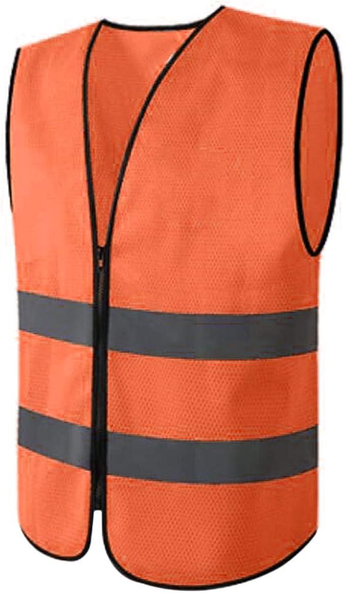 B Baosity Auto Warnwesten Wasserdicht Sicherheitsweste Reflektierende Warnschutzweste Für Auto Fahrrad Motorrad Orange 68 Cm Bekleidung