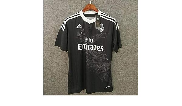 Real Madrid Black Dragon Soccer Jersey 2014-2015 (Black, S ...
