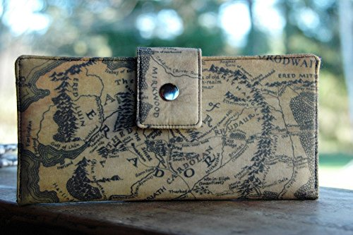 Handmade wallet Lord of the Rings map of Middle Earth