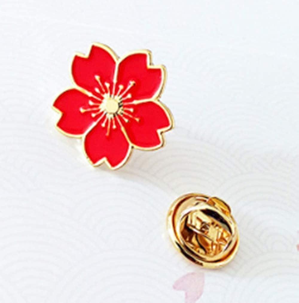 ookmngft Lady Broche Moda Cerezos en Flor Esmalte Ropa Bolsa Pin Insignia Broches Collar Pin para Mujer Joyería