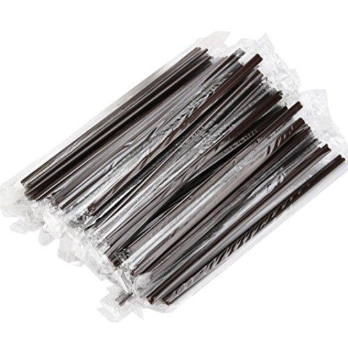 GreatFun 100 Pcs 18 CM Plastic Coffee Drinking Straws Tea Milk Stirrers for Bars Cafes Restaurants Home Use
