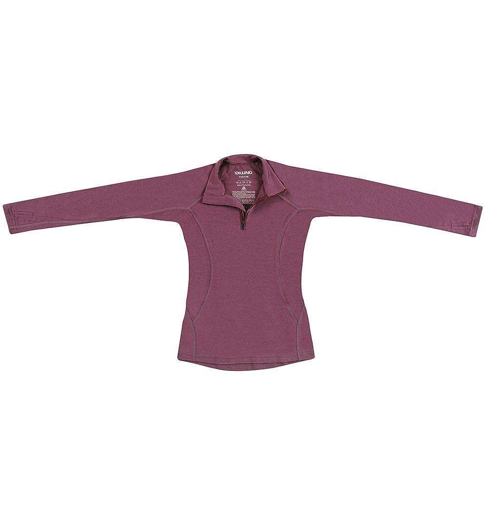 Dilling Kinder Pullover mit Reißverschluss aus 100% Merinowolle