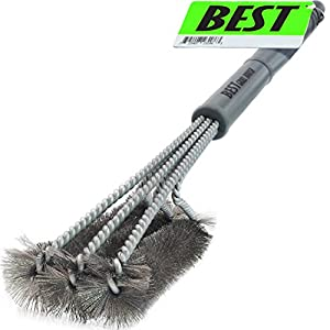 "Best BBQ Grill Brush ( HIGHEST QUALITY STAINLESS STEEL ) 18"" Barbecue Cleaning Brush w/ Wire Bristles & Soft Comfortable Handle - Perfect Cleaner & Scraper for Grill Cooking Grates"