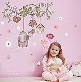 Fashion Plaza Module C2009 Autocollant mural Motif oiseaux heureux
